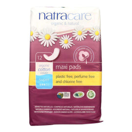 Natracare Natural Maxi Pads Super - 12 Pack - BeeGreen