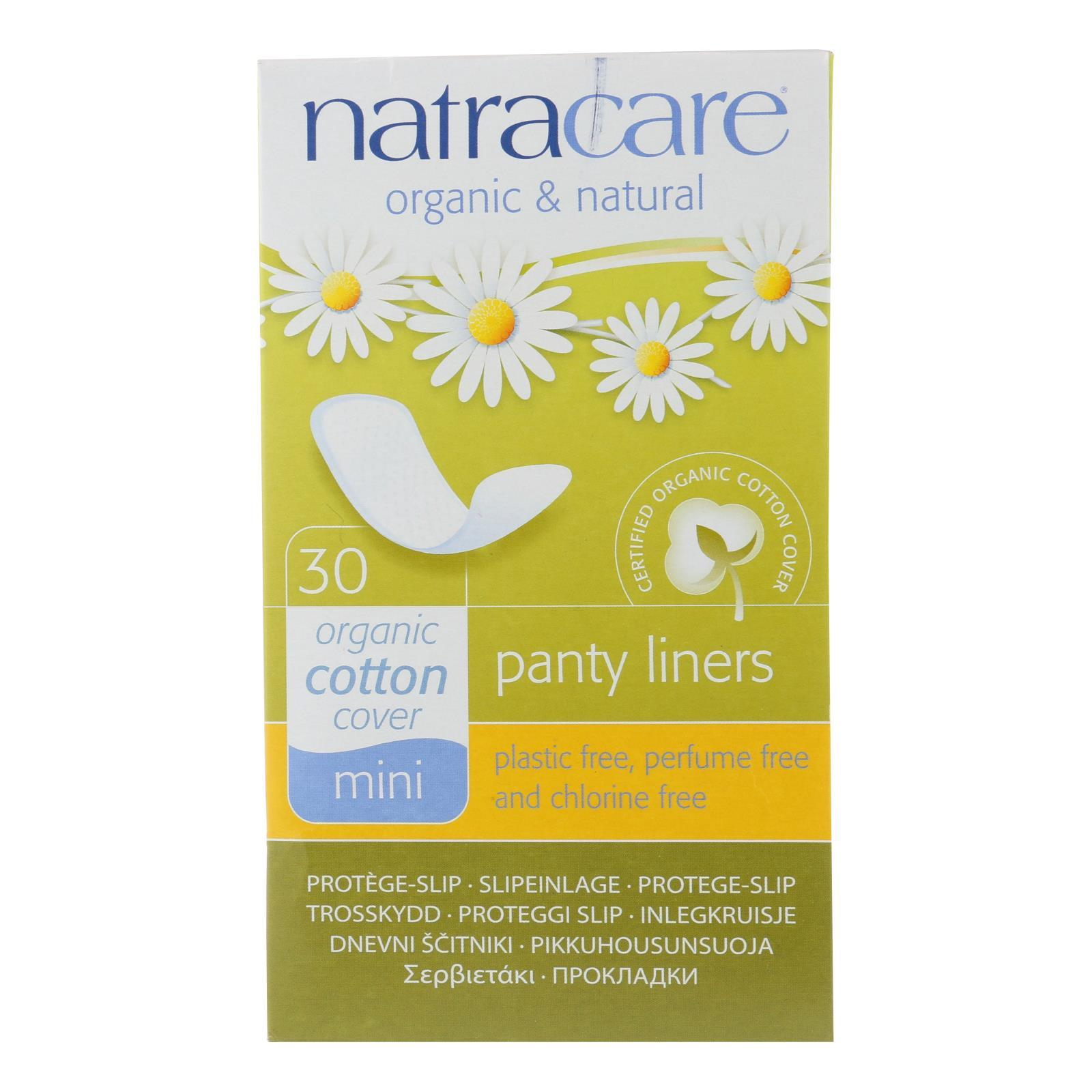 Natracare Natural Mini Panty Liners - 30 Pack - BeeGreen