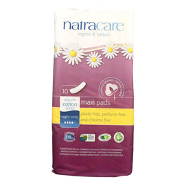 Natracare Natural Night Time Pads - 10 Pack - BeeGreen