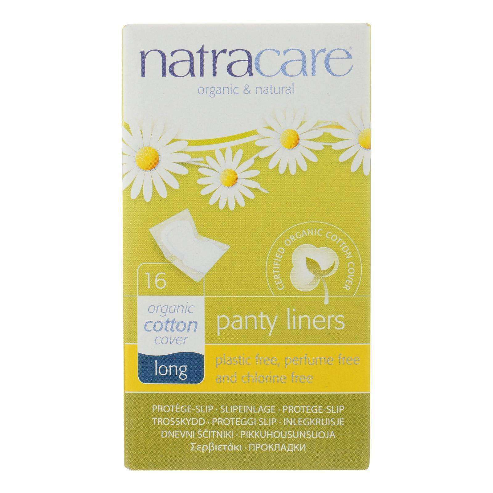 Natracare Panty Liners - Long - Wrapped - 16 Count - BeeGreen