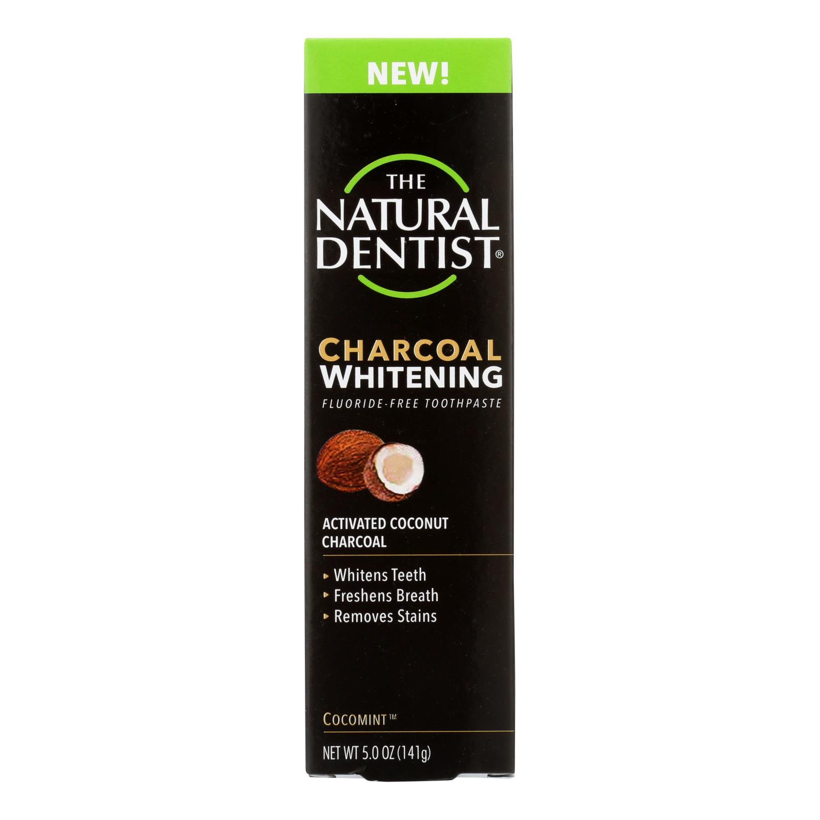 Natural Dentist Toothpaste - Charcoal - White - 5 Oz - BeeGreen