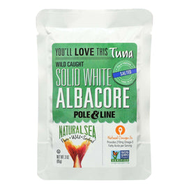 Natural Sea Wild Albacore Tuna Pouch - With Sea Salt - 3 Oz. - BeeGreen