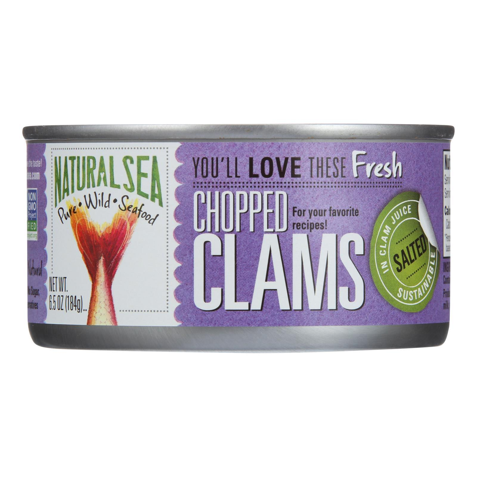 Natural Sea Wild Atlantic Surf Clams, Chopped - Case Of 12 - 6.5 Oz - BeeGreen