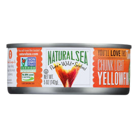 Natural Sea Wild Yellowfin Tuna - With Sea Salt - 5 Oz. - BeeGreen