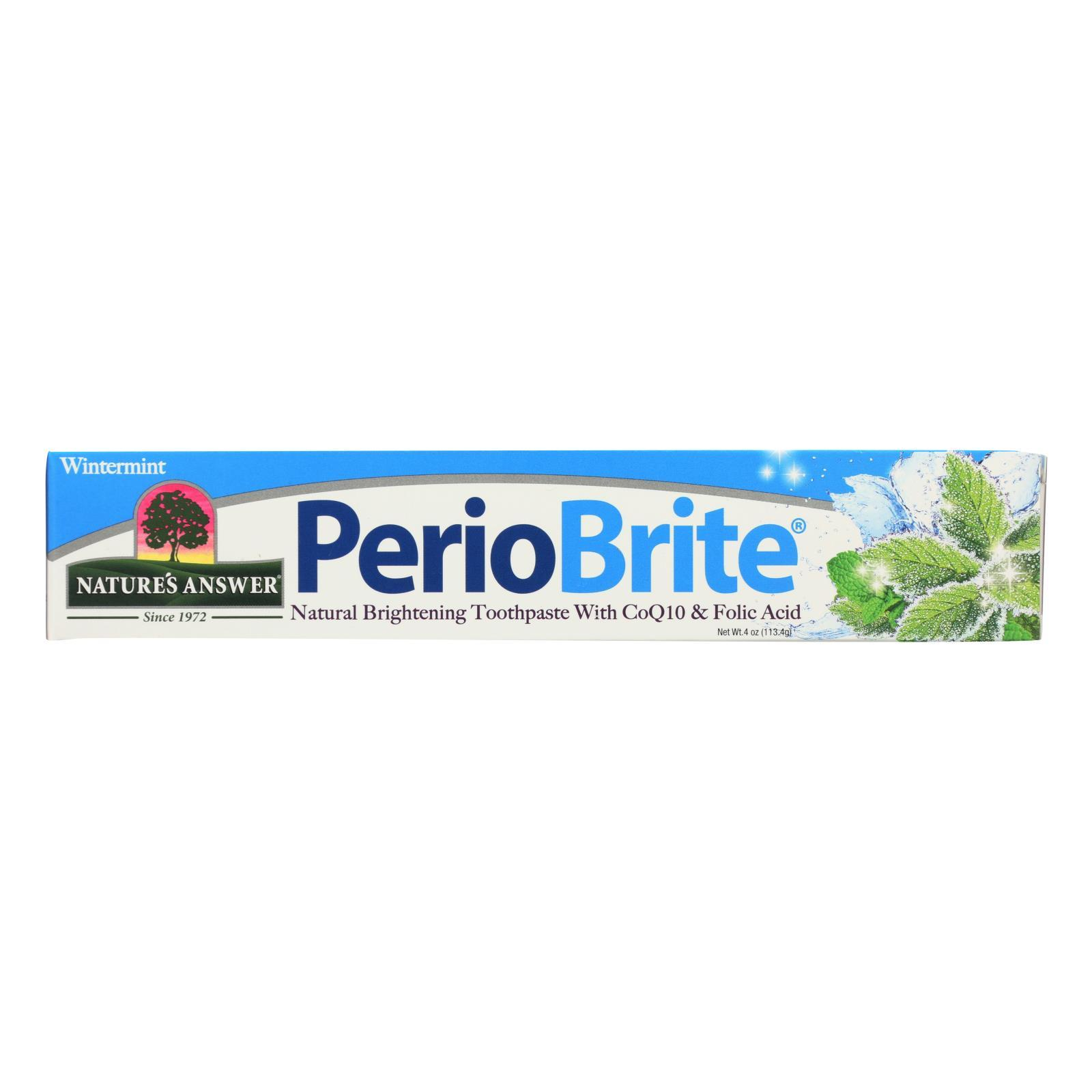 Nature's Answer Periobrite Wintermint Natural Brightening Toothpaste - 1 Each - 4 Oz - BeeGreen
