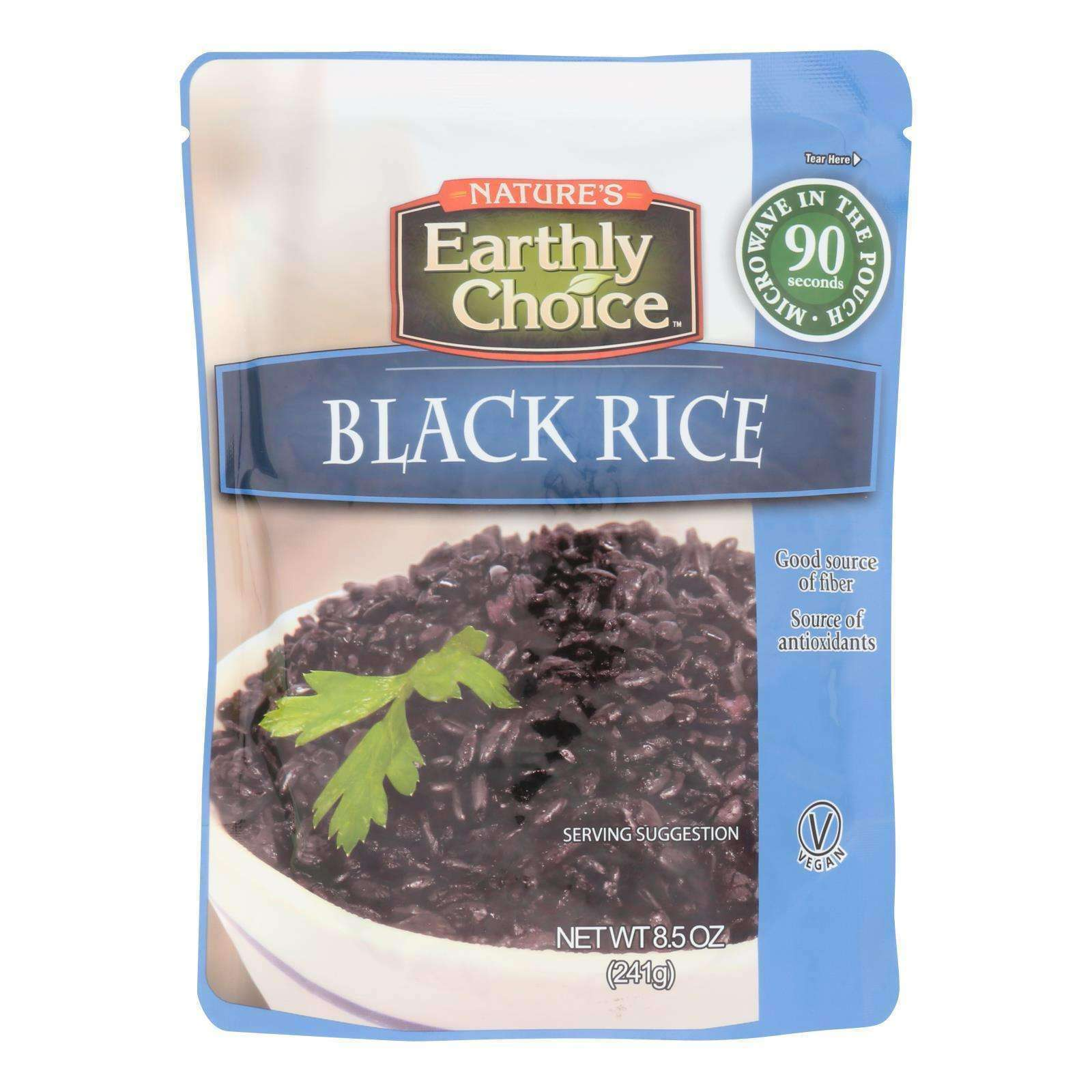 Nature's Earthly Choice - Rice Black Microwaveable - Case Of 6 - 8.5 Oz - BeeGreen