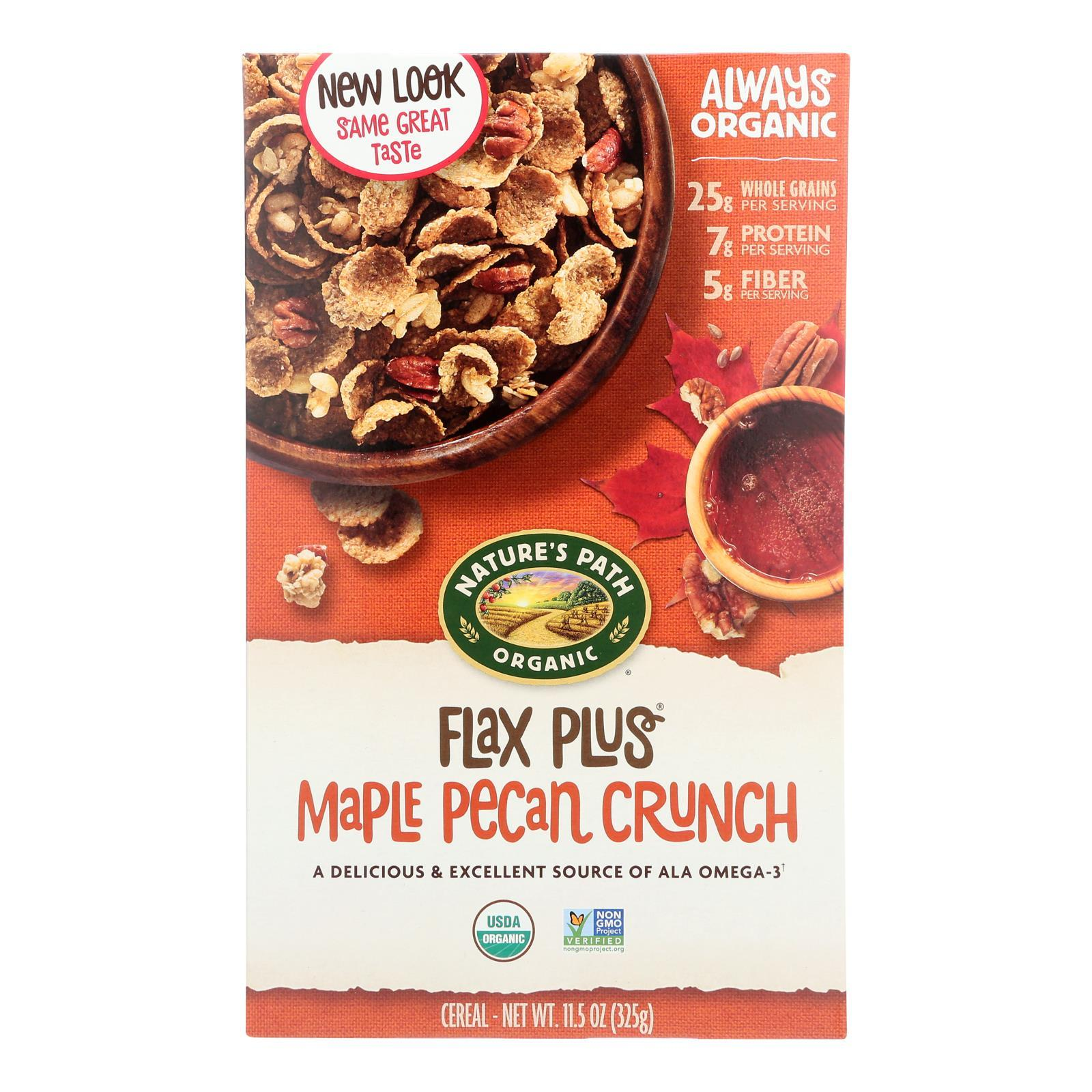 Nature's Path Maple Pecan Crunch - Flax Plus - Case Of 12 - 11.5 Oz. - BeeGreen
