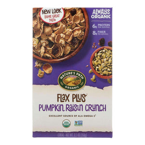 Nature's Path Organic Flax Plus Cereal - Pumpkin Raisin Crunch - Case Of 12 - 12.35 Oz. - BeeGreen