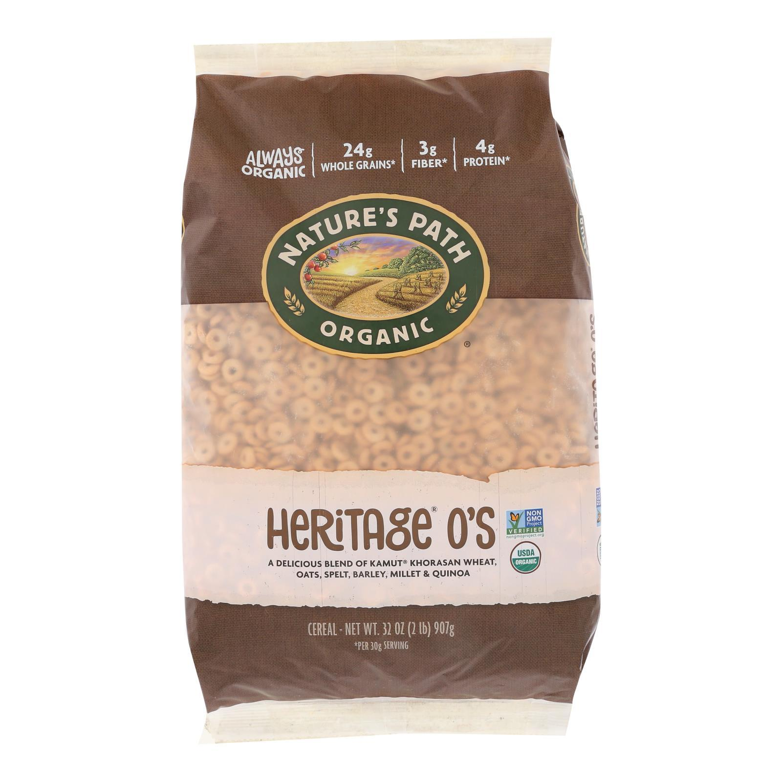 Nature's Path Organic Heritage O's Cereal - Case Of 6 - 32 Oz. - BeeGreen