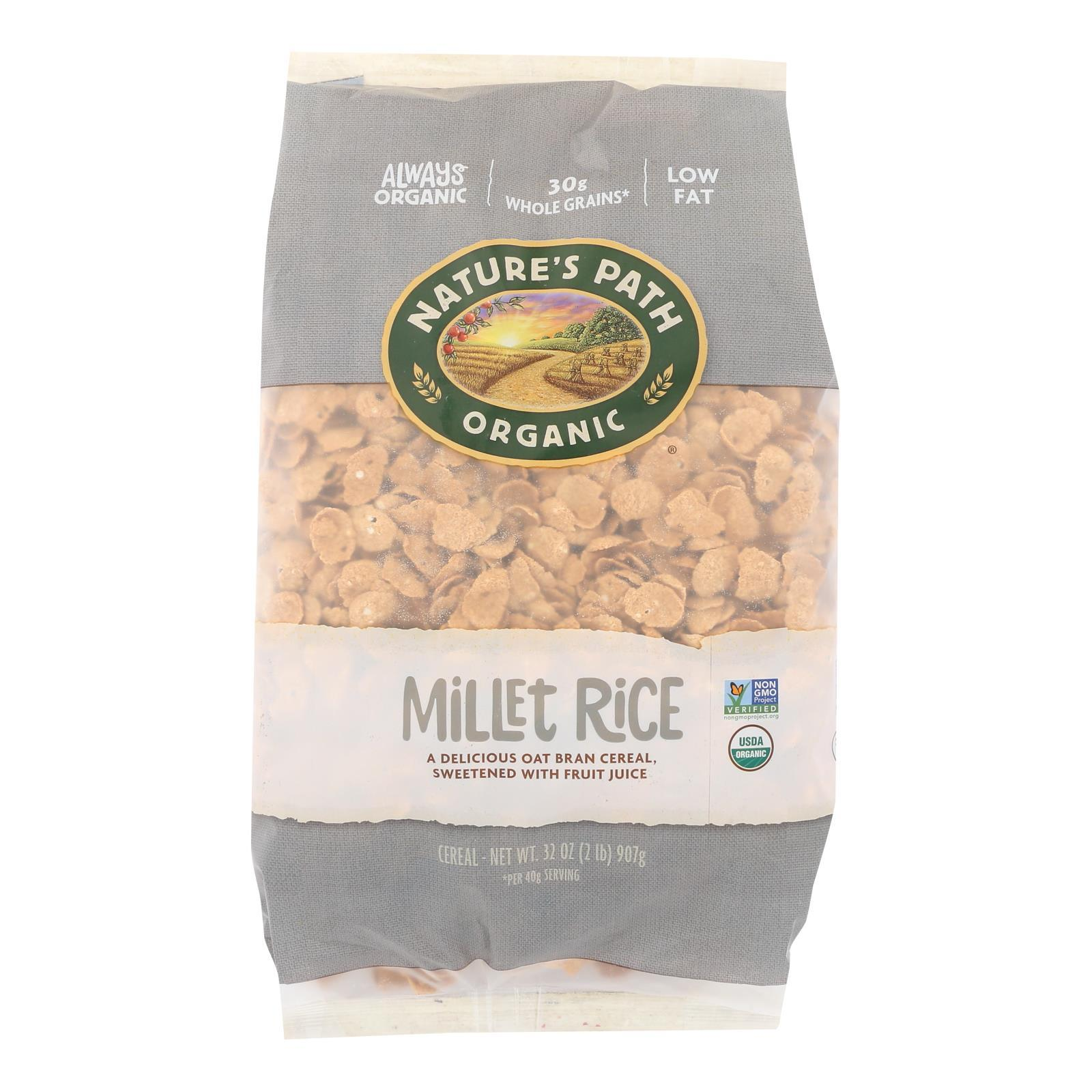 Nature's Path Organic Millet Rice Oat-bran Flakes Cereal - Case Of 6 - 32 Oz. - BeeGreen