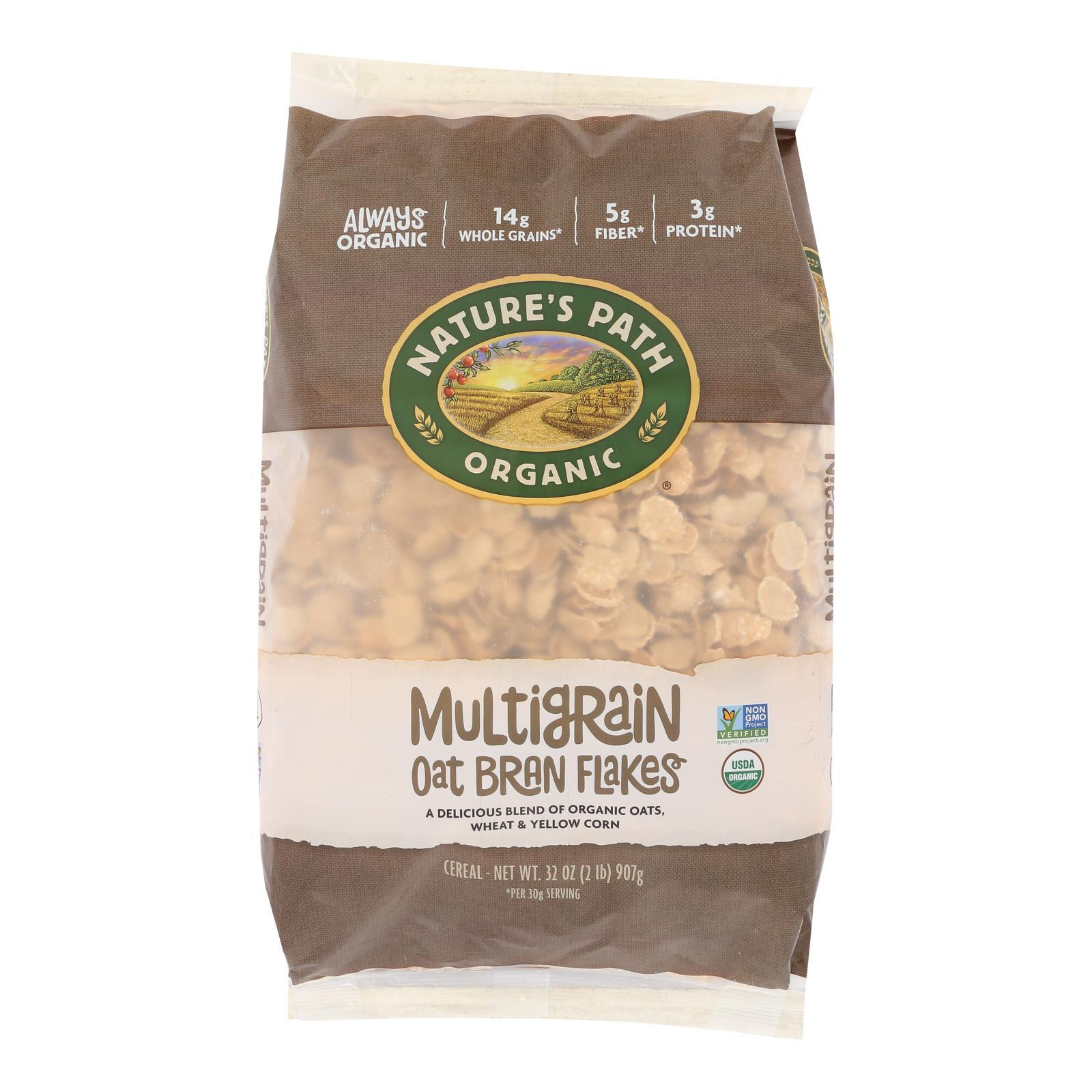Nature's Path Organic Multigrain Oat-bran Cereal - Case Of 6 - 32 Oz. - BeeGreen