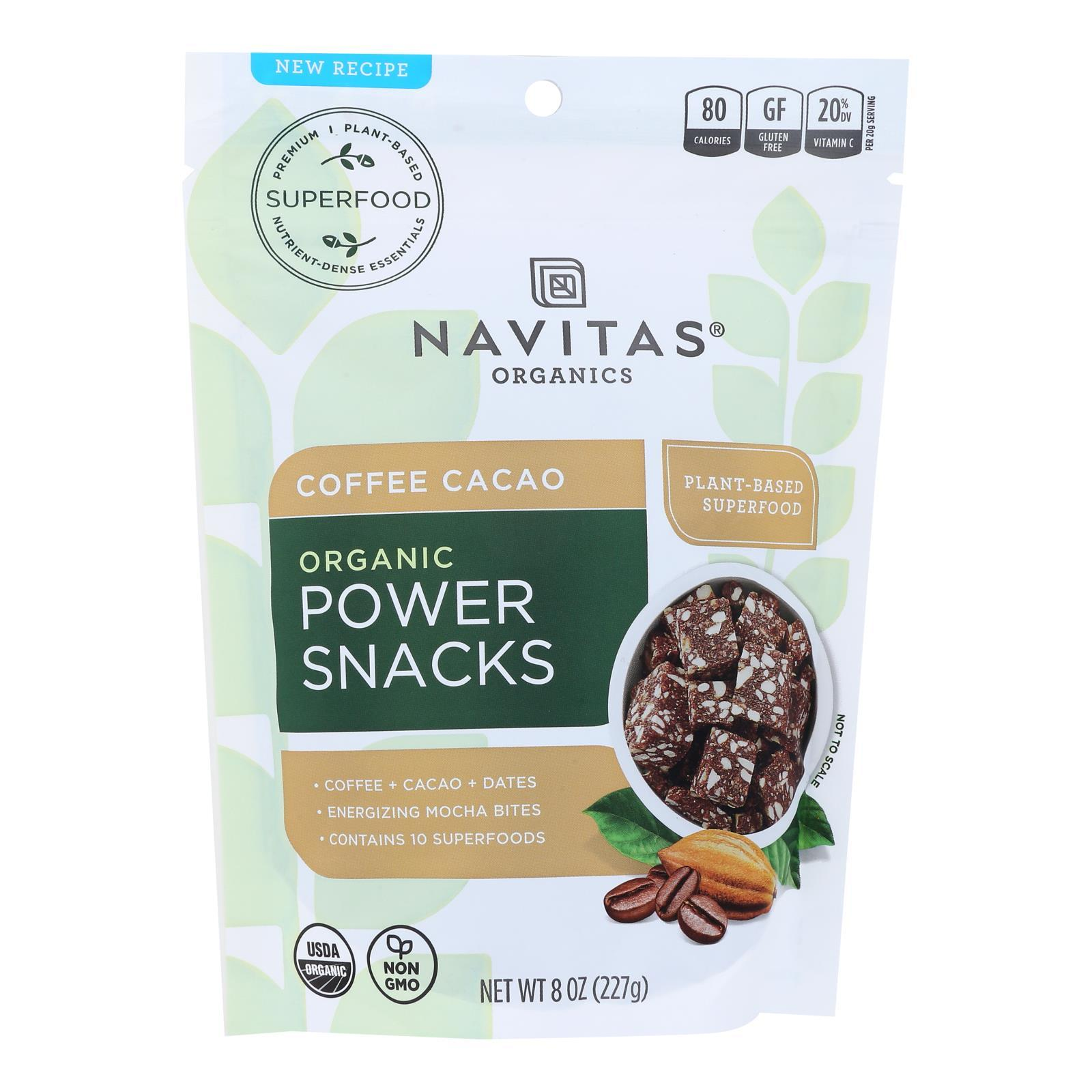 Navitas Naturals Snacks - Organic - Power - Coffee Cacao - 8 Oz - Case Of 12 - BeeGreen