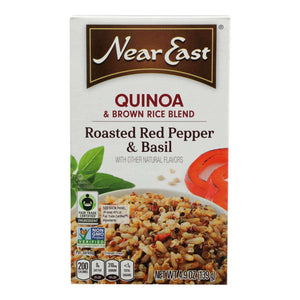 Near East Quinoa Blend - Roasted Red Pepper And Basi - Case Of 12 - 4.9 Oz. - BeeGreen