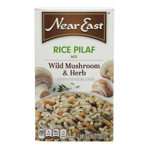 Near East Rice Pilaf Mix - Mushrooms And Herbs - Case Of 12 - 6.3 Oz. - BeeGreen