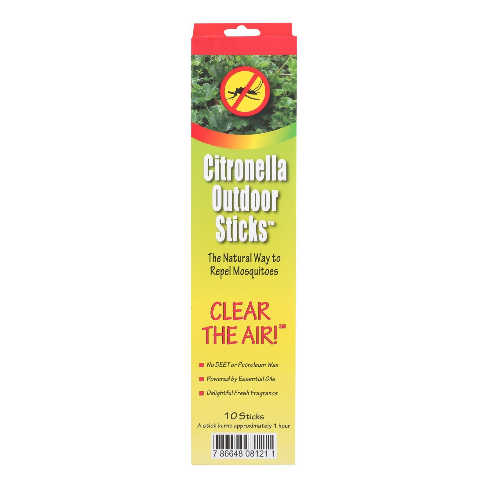 Neem Aura Naturals Outdoor Citronella Sticks - 10 Count - BeeGreen