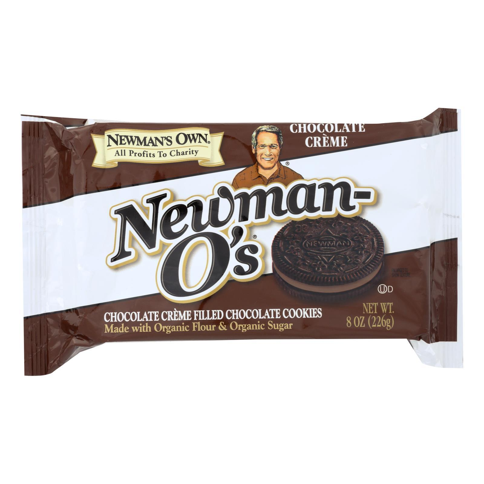 Newman's Own Organics Creme Filled Chocolate Cookies - Chocolate - Case Of 6 - 8 Oz. - BeeGreen