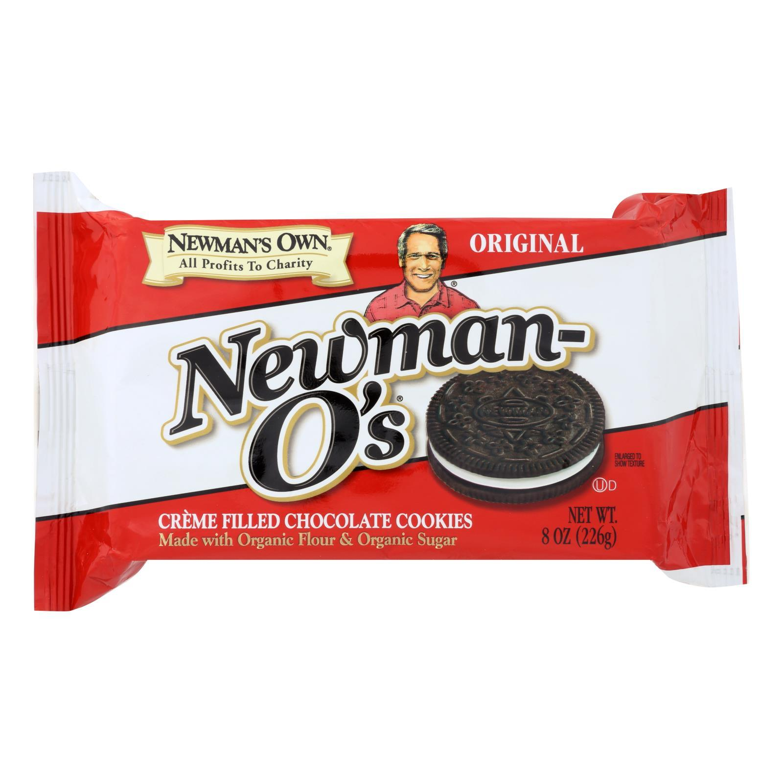 Newman's Own Organics Creme Filled Chocolate Cookies - Vanilla - Case Of 6 - 8 Oz. - BeeGreen