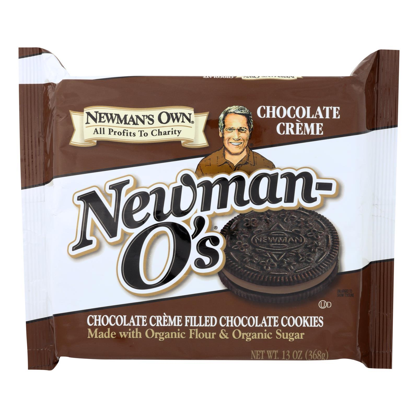 Newman's Own Organics Creme Filled Cookies - Chocolate - Case Of 6 - 13 Oz. - BeeGreen