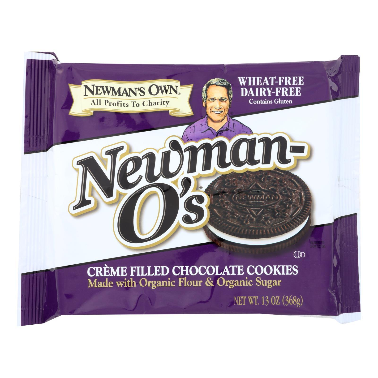 Newman's Own Organics Creme Filled Cookies - Vanilla - Case Of 6 - 13 Oz. - BeeGreen