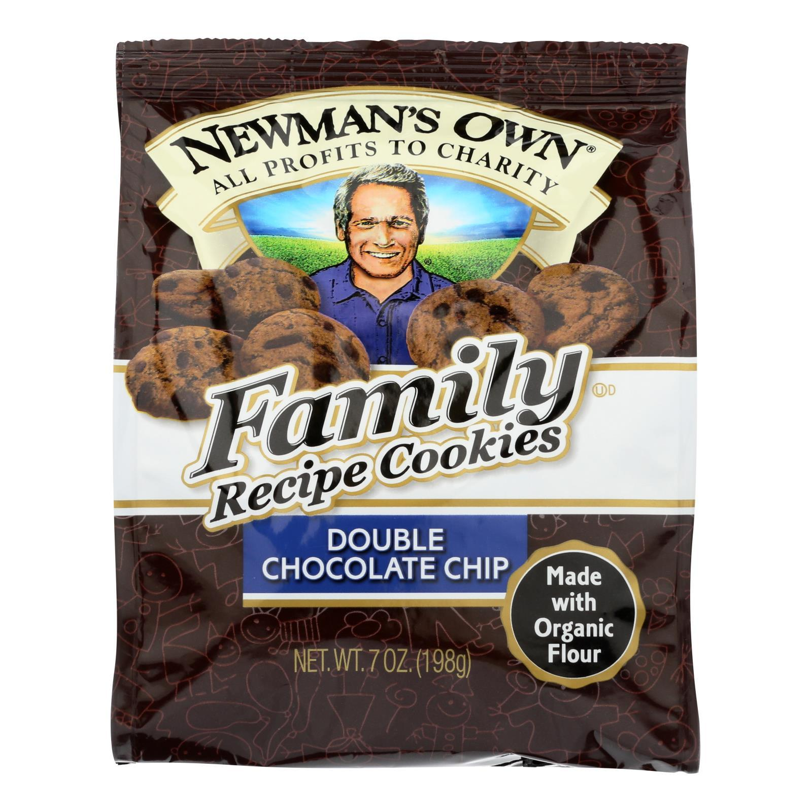 Newman's Own Organics Double Chocolate Chip Cookies - Organic - Case Of 6 - 7 Oz. - BeeGreen