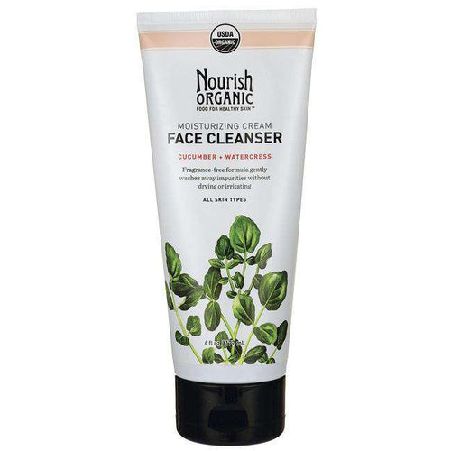 Nourish Face Cleanser Cream, Cucumber-Watercress (1x6 OZ) - BeeGreen