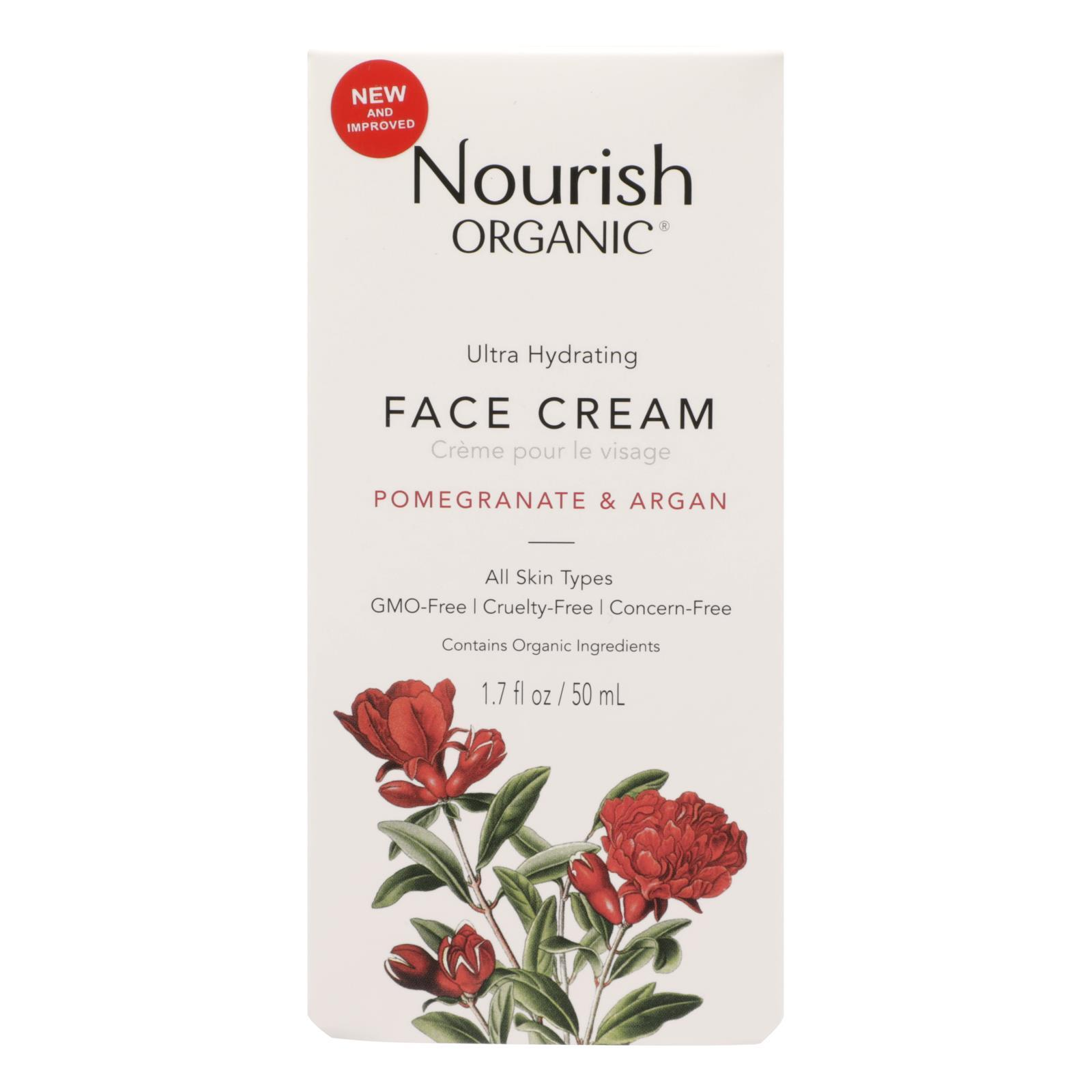 Nourish Facial Cream - Organic - Ultra-hydrating - Argan And Pomegranate - 1.7 Oz - 1 Each - BeeGreen