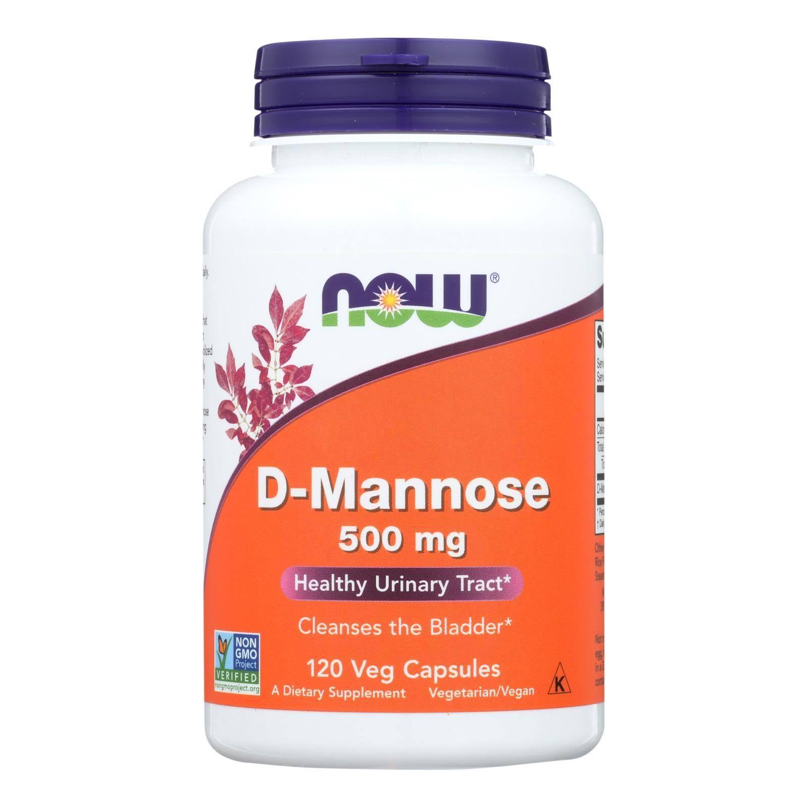 Now D-mannose Powder 500 Mg - 1 Each - 120 Cap - BeeGreen