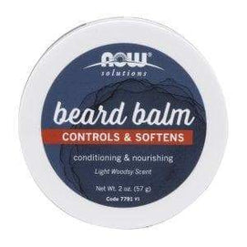 Now Foods, Beard Balm, Controls & Softens, Light Woodsy , 2 oz (57 g) - BeeGreen
