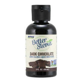 Now Foods, Better Stevia, Zero-Calorie Liquid Sweetener, Dark Chocolate, 2 fl oz (59 ml) - BeeGreen
