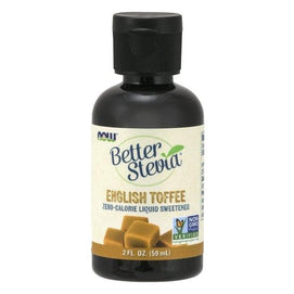 Now Foods, Better Stevia, Zero-Calorie Liquid Sweetener, English Toffee, 2 fl oz (60 ml) - BeeGreen