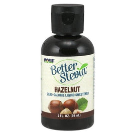 Now Foods, Better Stevia, Zero-Calorie Liquid Sweetener, Hazelnut, 2 fl oz (59 ml) - BeeGreen