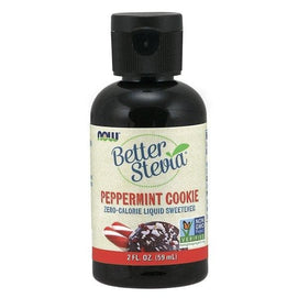 Now Foods, Better Stevia, Zero-Calorie Liquid Sweetener, Peppermint Cookie, 2 fl oz (59 ml) - BeeGreen