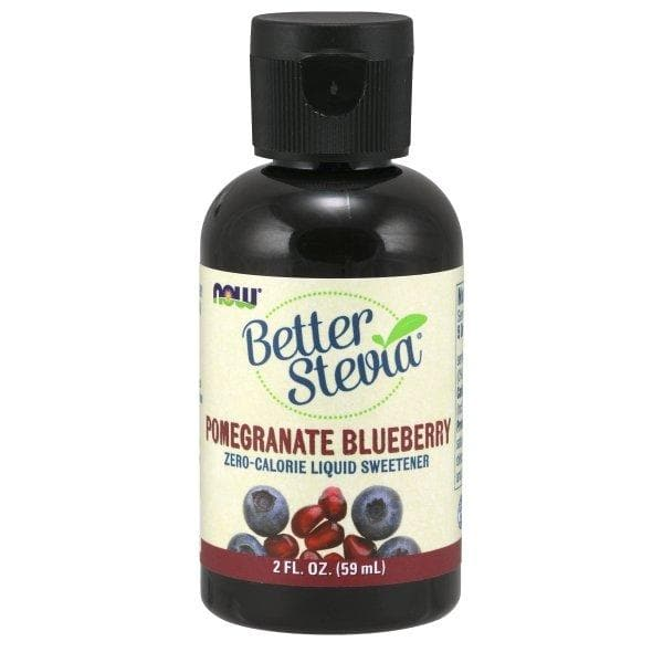 Now Foods, Better Stevia, Zero-Calorie Liquid Sweetener, Pomegranate Blueberry, 2 fl oz (59 ml) - BeeGreen