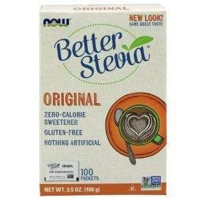 Now Foods, Better Stevia, Zero-Calorie Sweetener, Original, 100 Packets, 3.5 oz (100 g) - BeeGreen