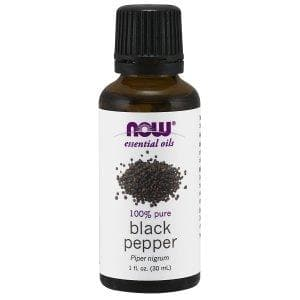 Now Foods, Essential Oils, Black Pepper Oil, 1 fl oz (30 ml) - BeeGreen