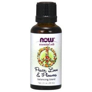 Now Foods, Essential Oils, Peace, Love & Flowers, Balancing Blend, 1 fl. oz (30 ml) - BeeGreen