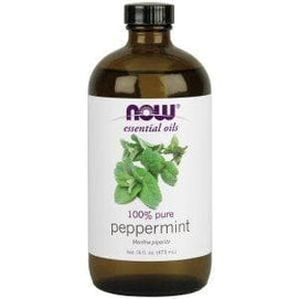 Now Foods, Essential Oils, Peppermint, 16 fl oz (473 ml) - BeeGreen