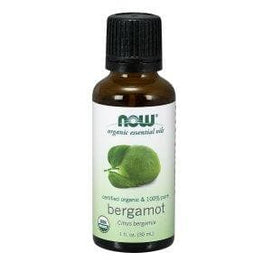 Now Foods, Organic Essential Oils, Bergamot, 1 fl oz (30 ml) - BeeGreen