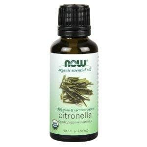 Now Foods, Organic Essential Oils, Citronella Oil, 1 fl oz (30 ml) - BeeGreen