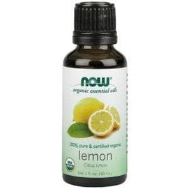 Now Foods, Organic Essential Oils, Lemon, 1 fl oz (30 ml) - BeeGreen