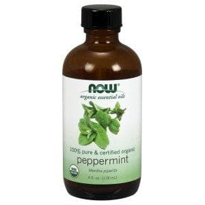 Now Foods, Organic Essential Oils, Peppermint, 4 fl oz (118 ml) - BeeGreen