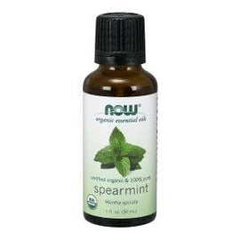 Now Foods, Organic Essential Oils, Spearmint, 1 fl oz (30 ml) - BeeGreen