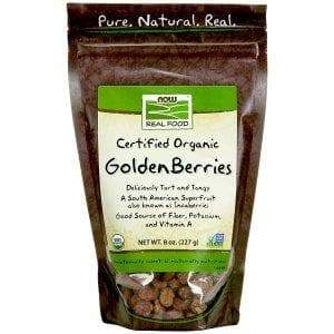 Now Foods, Real Food, Certified Organic Golden Berries, 8 oz (227 g) - BeeGreen