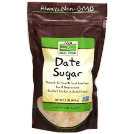 Now Foods, Real Food, Date Sugar, 1 lb (454 g) - BeeGreen
