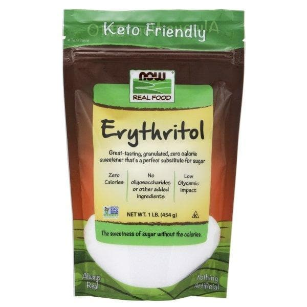 Now Foods, Real Food, Erythritol, Natural Sweetener, 1 lb (454 g) - BeeGreen