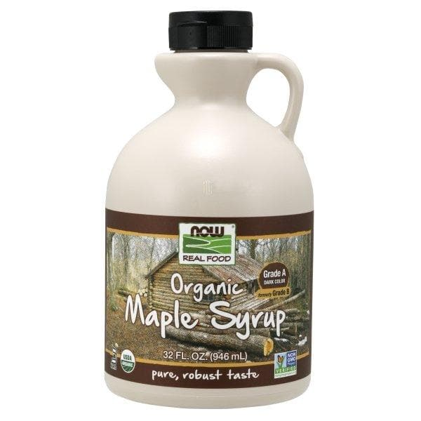 Now Foods, Real Food, Organic Maple Syrup, Grade A, Dark Color, 32 fl oz (946 ml) - BeeGreen