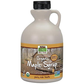 Now Foods, Real Food, Organic Maple Syrup, Grade A, Medium Amber, 32 fl oz (946 ml) - BeeGreen