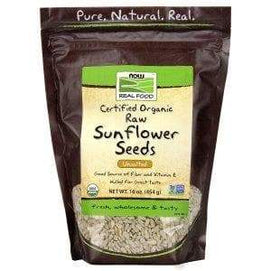 Now Foods, Real Food, Organic Raw Sunflower Seeds, Unsalted, 16 oz (454 g) - BeeGreen