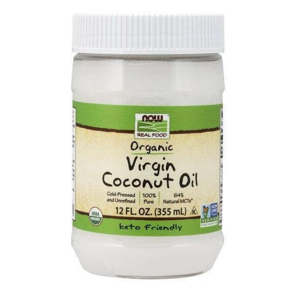 Now Foods, Real Food, Organic Virgin Coconut Oil, 12 fl oz (355 ml) - BeeGreen