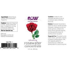 Now Foods, Rosewater Concentrate - 1 Oz. - BeeGreen